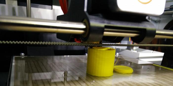 3D printer printing a vibrator case