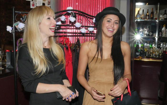 Heather Mercer and Marnie Simpson at the Lovehoney Lingerie Party