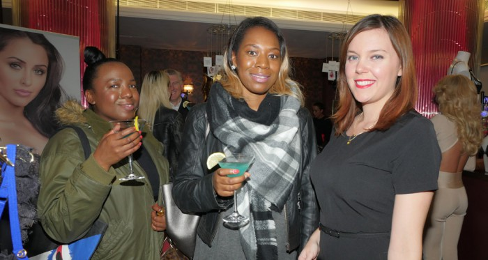 Gemma Pestel (right) and guests at the Lovehoney Lingerie Party