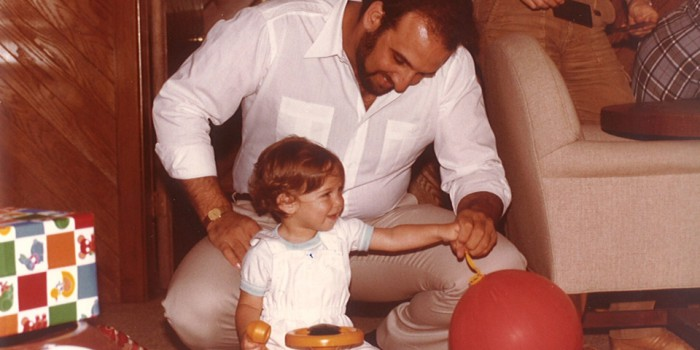 Ron Braverman and his then one-year old son Chad, 1983