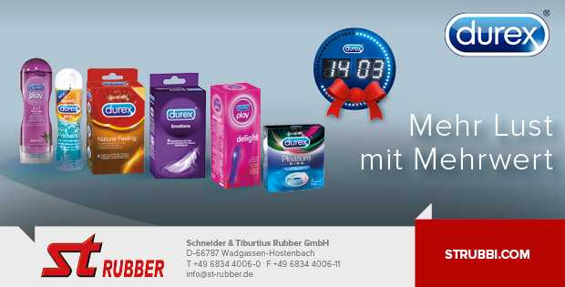 ST Rubber Durex Clock Promotion