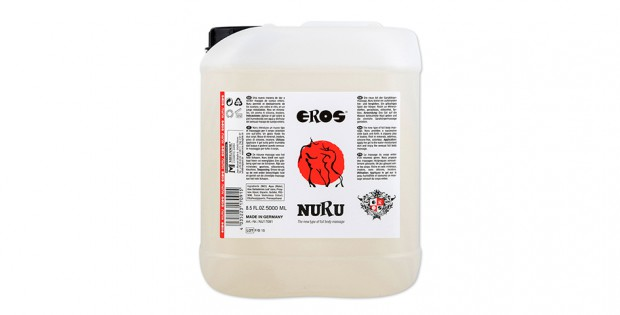 Canister of Eros Nuru Massage Gel 5 liter