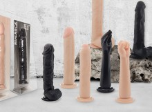 Assortment of realistic looking dildos