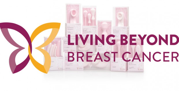Living Beyond Breast Cancer Logo with CalExoticts Inspire Line in Background