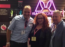 Eric Idema, Andre Visser and sales person from The Rabbit Company at ANME