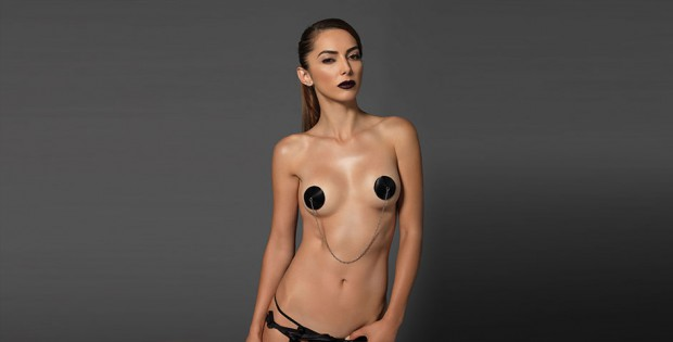 Women with nipple pasties