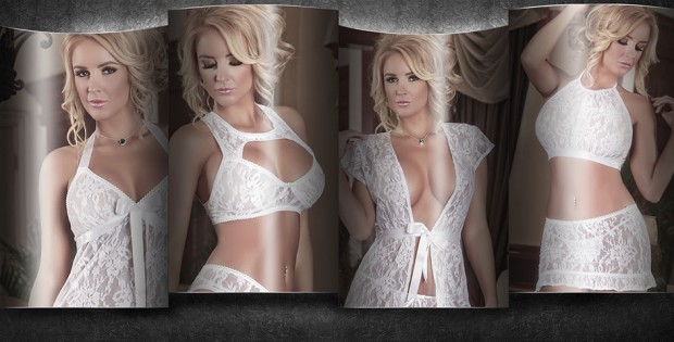 Four lingerie styles by Magic Silk's Angelic Lace collection