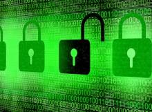 Digital security locks symbolic picture