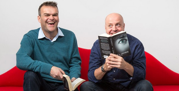 Richard Longhurst and Neal Slateford of Lovehoney reading Fifty Shades of Grey