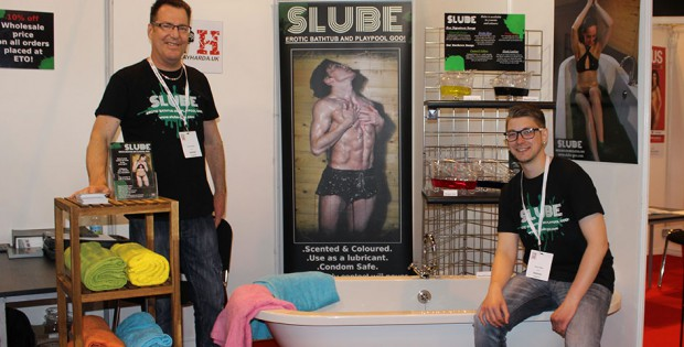 Dave Powley and Daniel Miller present Slube lube at the ETO show