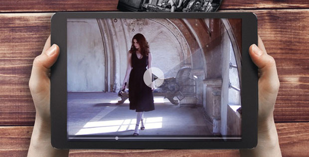 Tablet with picture of Shots VIVE campaign