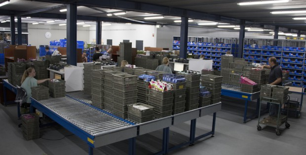 inside EDC's new warehouse