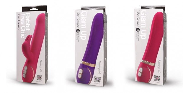 Three vibrators from Orion Wholesales Vibe Couture collection
