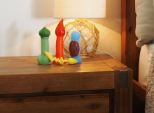 Pokemon inspired dildos on a night stand