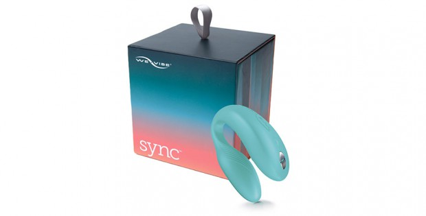 We Vibe Sync in aqua color with box