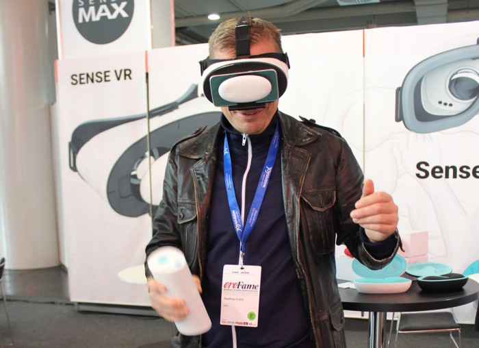 Guy with VR Goggles and Masturbator
