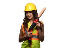 Women with dildo drill